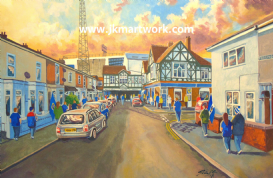 Hand Painted original of fratton park gtm